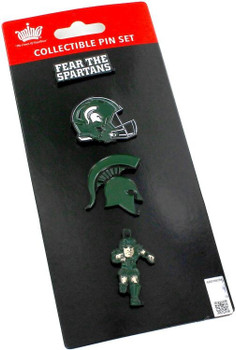 Michigan State Spartans Four Pin Collector Set