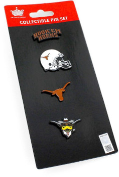 Texas Longhorns Four Pin Collector Set