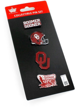 Oklahoma Sooners Four Pin Collector Set