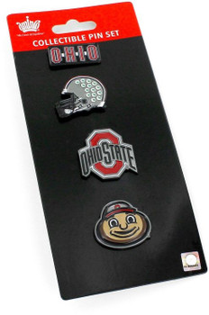 Ohio State Buckeyes Four Pin Collector Set