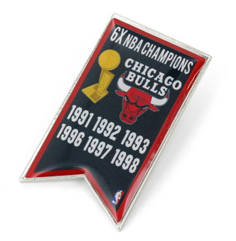 Chicago Bulls 6-Time NBA Champions Pin