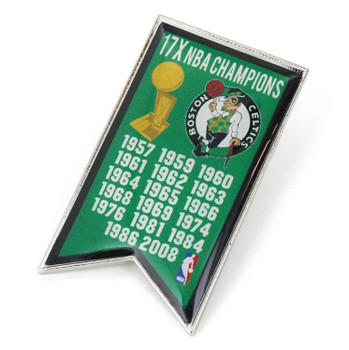 Boston Celtics 17-Time NBA Champions Pin