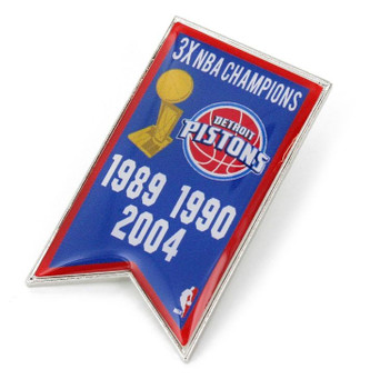 Detroit Pistons 3-Time NBA Champions Pin