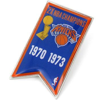 New York Knicks 2-Time NBA Champions Pin
