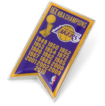 Los Angeles Lakers 16-Time NBA Champions Pin