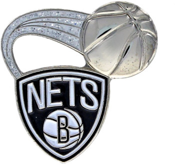 Brooklyn Nets Glitter Trail Pin