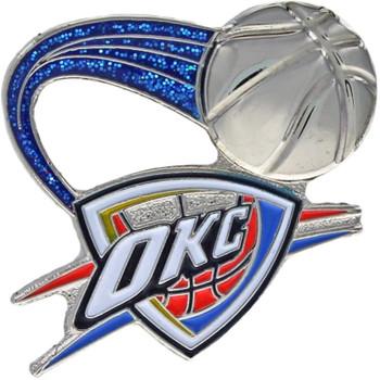 Oklahoma City Thunder Glitter Trail Pin