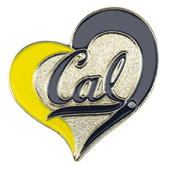 Cal Berkeley Bears Swirl Heart Pin