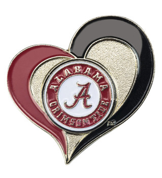 Alabama Crimson Tide Swirl Heart Pin