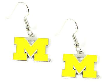 Michigan Logo Earrings - Yellow