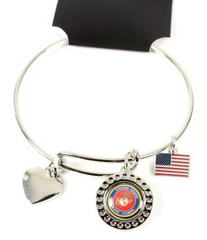 United State Marines Dimple Adjustable Bracelet