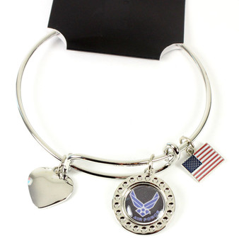 United State Air Force Dimple Adjustable Bracelet