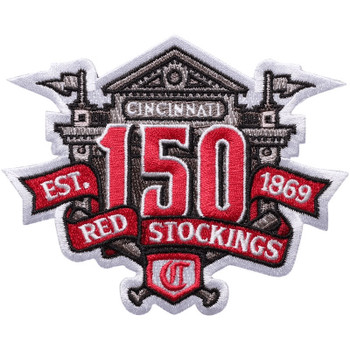 Cincinnati Reds 150th Anniversary Embroidered Emblem Patch