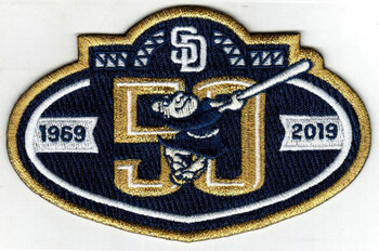 San Diego Padres 50thf Anniversary Embroidered Emblem Patch -3.5""