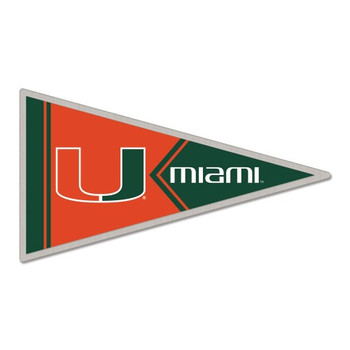 Miami Hurricanes Pennant Pin