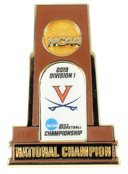 Virginia Cavaliers 2019 NCAA Men's Basketball Champs Trophy Pin
