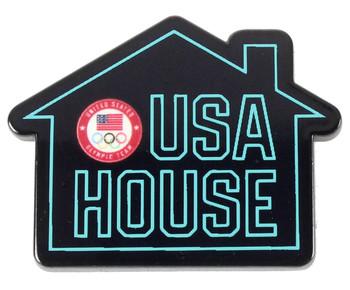 2020 Tokyo Olympics Team USA House Neon Pin
