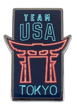 2020 Tokyo Olympics Team USA Neon Temple Gate Pin