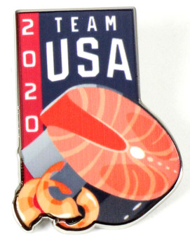2020 Tokyo Olympics Team USA Tuna and Shrimp Pin