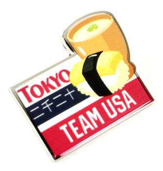 2020 Tokyo Olympics Team USA Sushi Pin