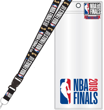 "2019 NBA Finals Lanyard w/ Ticket Holder & ""I Was There"" Pin"