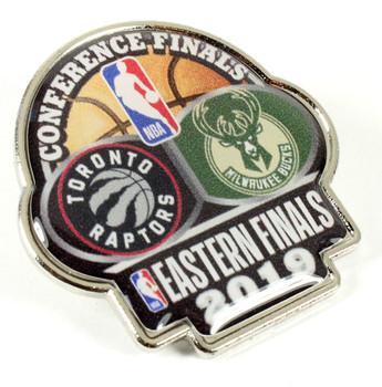 2019 NBA Eastern Conference Dueling Pin - Raptors vs. Bucks
