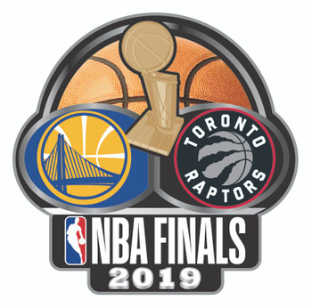 2019 NBA Finals Dueling Pin - Warriors vs. Raptors