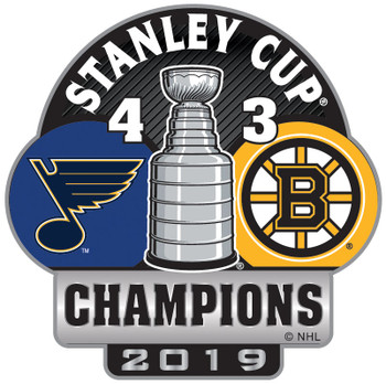 St. Louis Blues 2019 NHL Stanley Cup Champs Pin w/ Games Won