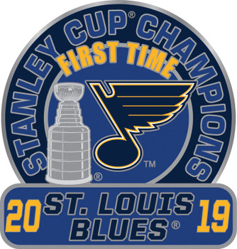 St. Louis Blues 2019 NHL Stanley Cup First Time Champs Pin