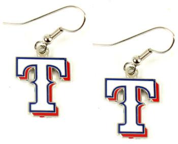 Texas Rangers Earrings - White