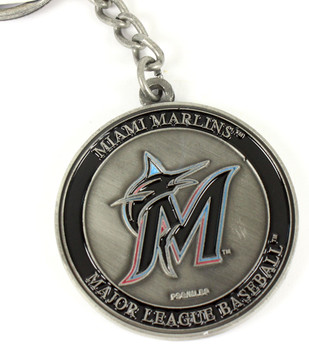 Miami Marlins Ultimate Two-Sided Key Chain