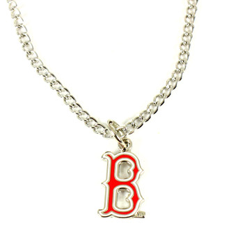 "Boston Red Sox ""B"" Logo Necklace"