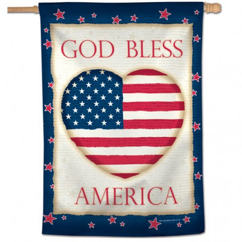 "God Bless America Heart Vertical Flag - 28"" x 40"""