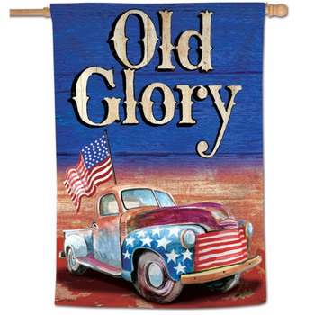 """Old Glory"" Vertical Patriotic Flag - 28"" x 40"""