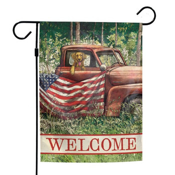 """Welcome"" God's County Garden Flag - 12"" x 18"""