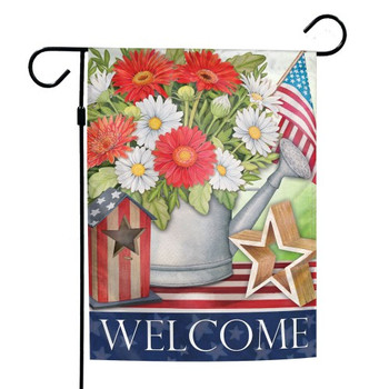 """Welcome"" Patriotic Garden Flag - 12"" x 18"""