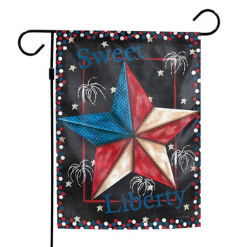 """Sweet Liberty"" Patriotic Garden Flag - 12"" x 18"""