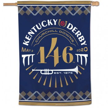 "2020 Kentucky Derby 146th Flag - 28"" x 40"""