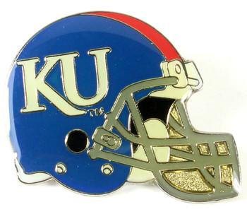 Kansas Football Helmet Pin