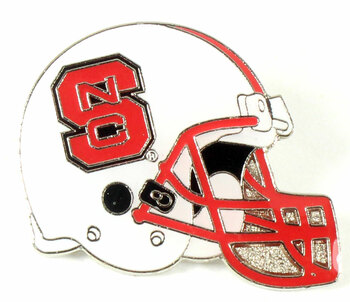 North Carolina State Football Helmet Pin