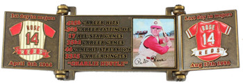 Pete Rose Hall of Fame Career Pin - Cooperstown Collection