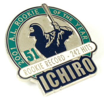 Ichiro Suzuki 2001 Rookie Of The Year Pin - Rookie Hit Record