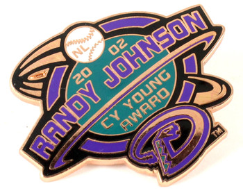 Randy Johnson 2002 Cy Young Award Winner Pin