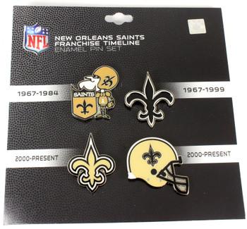 New Orleans Saints Logo / Helmet Evolution Pin Set