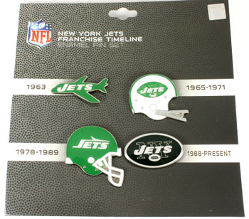 New York Jets Logo / Helmet Evolution Pin Set