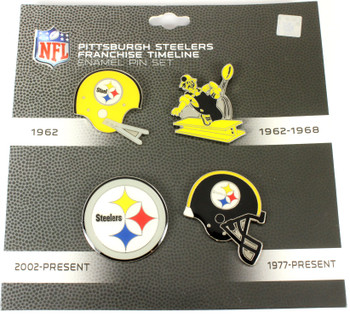 Pittsburgh Steelers Logo / Helmet Evolution Pin Set