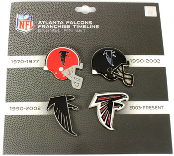 Atlanta Falcons Logo / Helmet Evolution Pin Set
