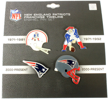 New England Patriots Logo / Helmet Evolution Pin Set