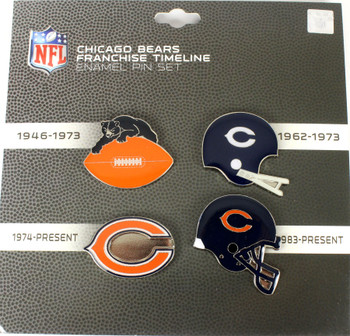 Chicago Bears Logo / Helmet Evolution Pin Set