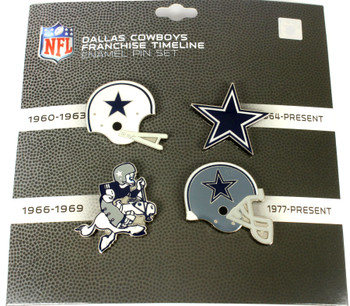 Dallas Cowboys Logo / Helmet Evolution Pin Set